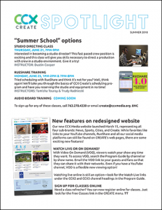 Spotlight newsletter: Summer 2018