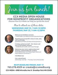 image of nonprofit open house invitation