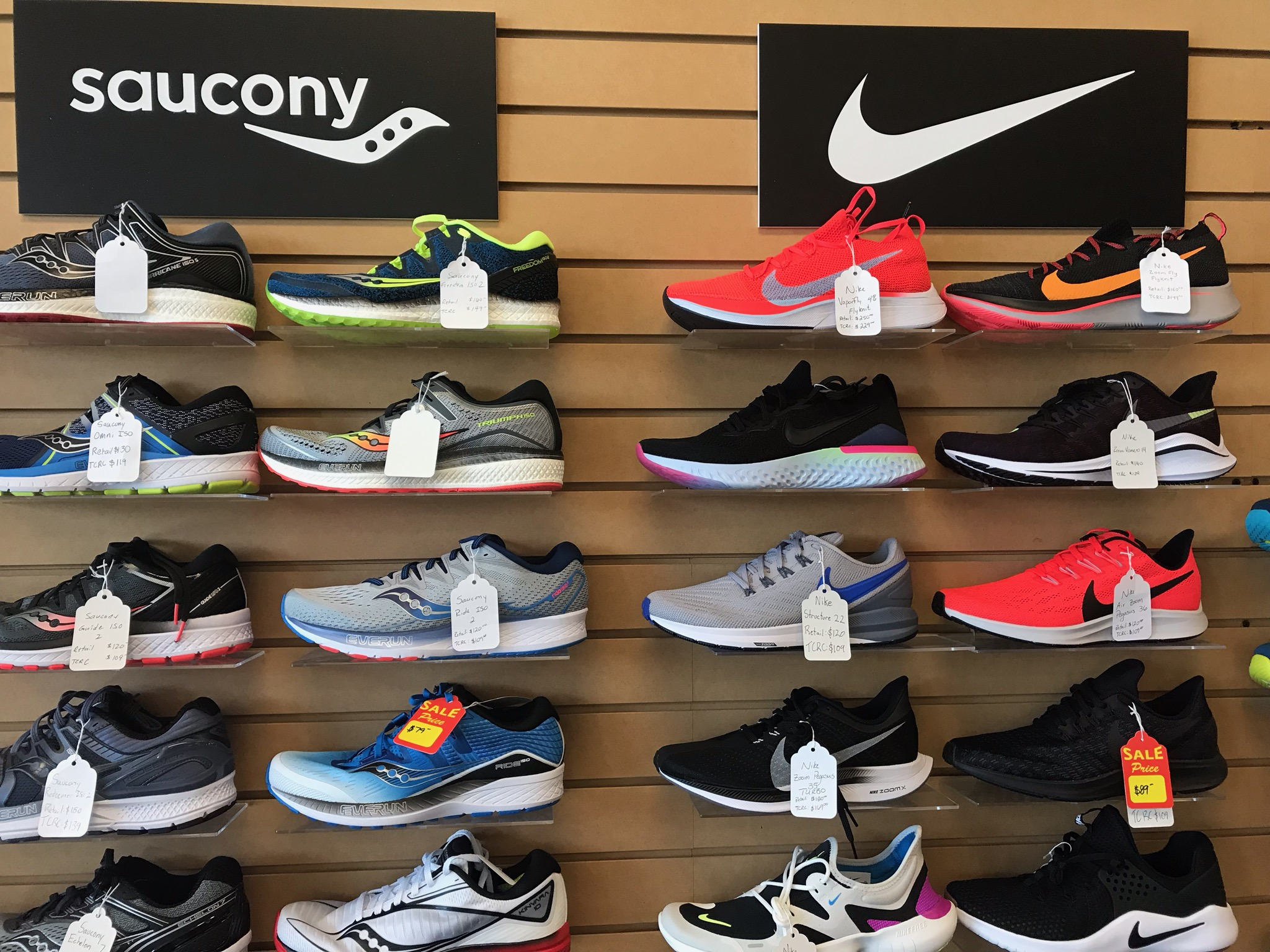 Selection of Running Shoes