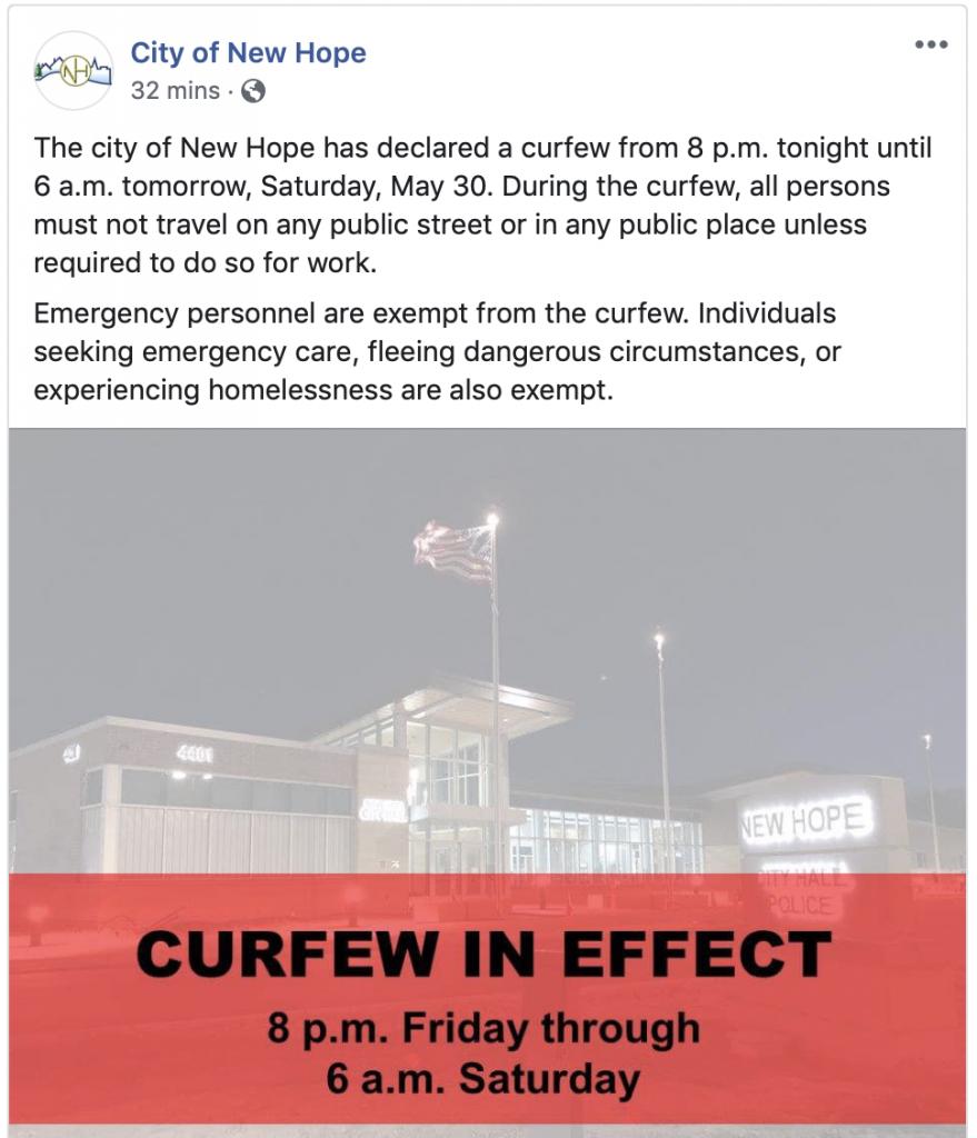 New Hope Curfew