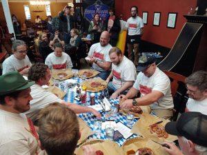 Meterwurst Eating Contest at Under Pressure Brewing