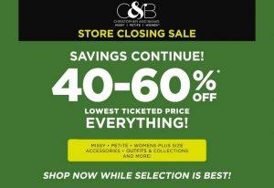 Christopher & Banks closing sales