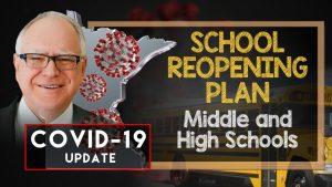 walz school reopening plan