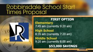 robbinsdale school start times
