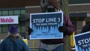Line 3 pipeline protest