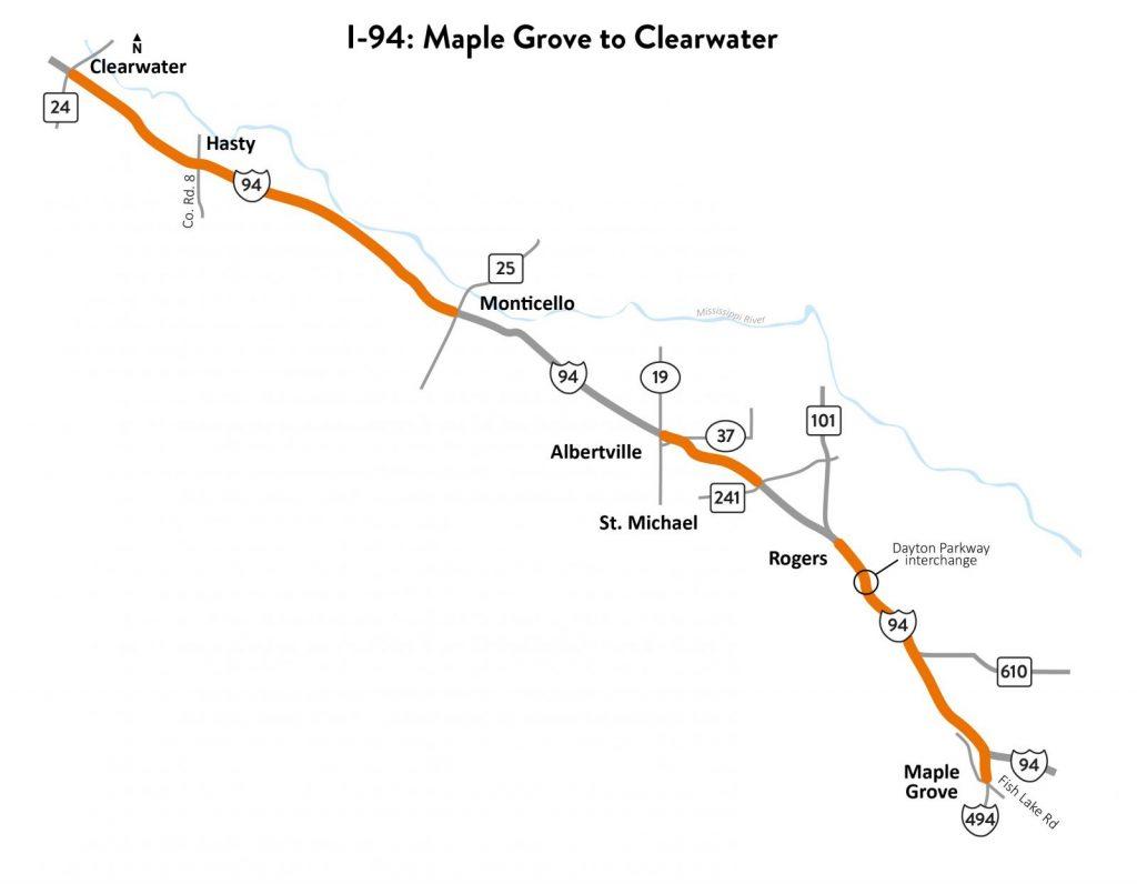 I-94 construction maple grove