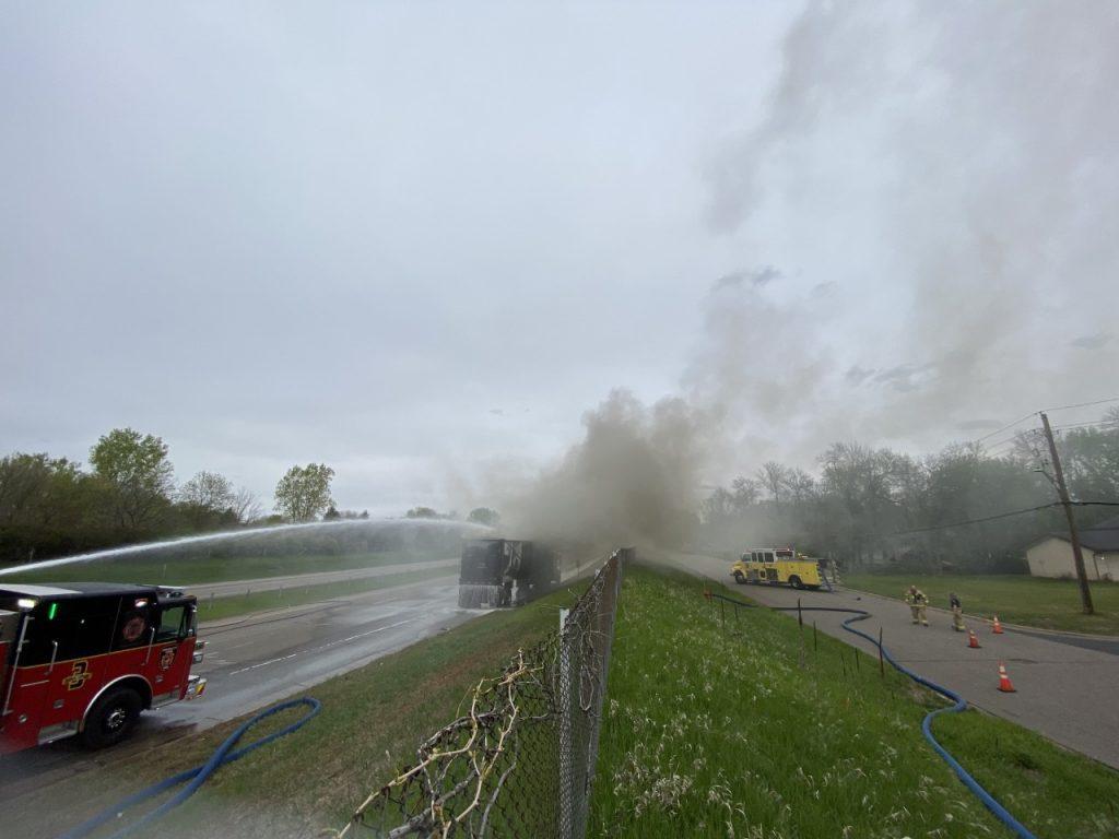 Highway 252 Truck Fire