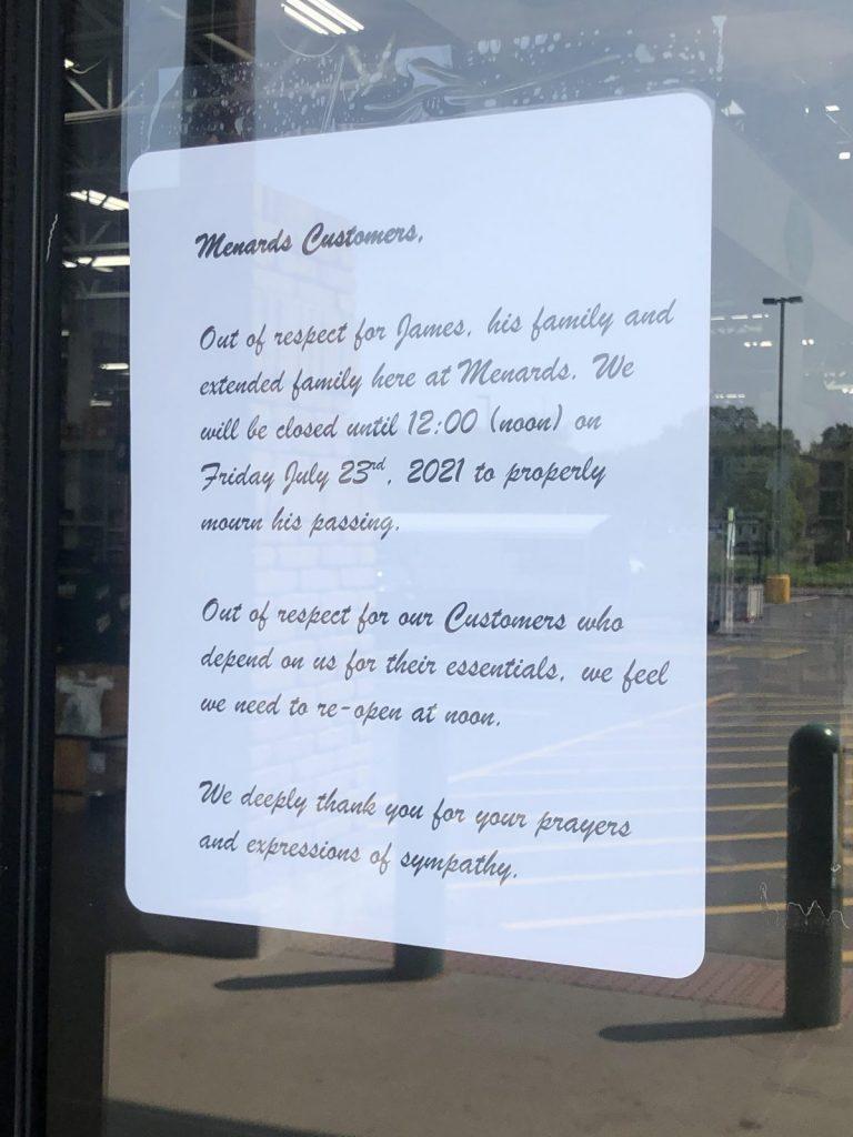 golden valley menards employee killed