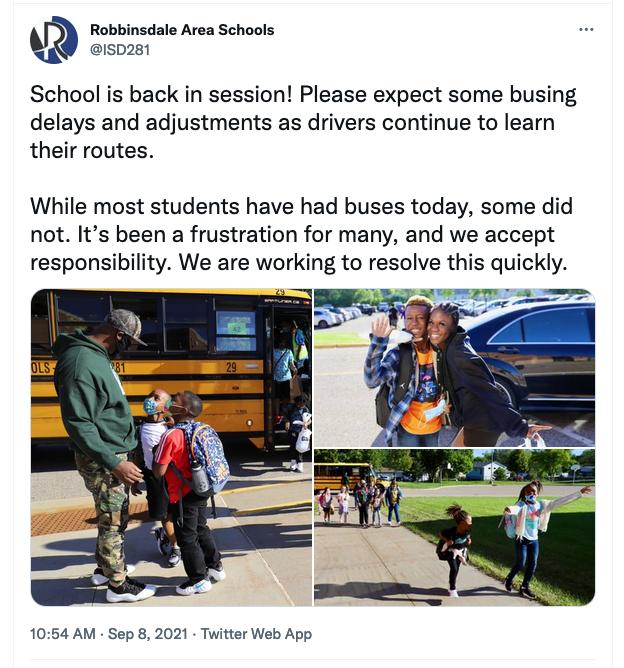 robbinsdale bus driver shortage